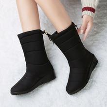 Winter Women Boots Ankle Boots Down Snow Boots Waterproof Tassel Winter Shoes Women Warm Fur Black