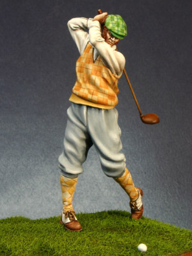 1/24 75mm  Modern Player In Autumn Resin Figure Model Kits Miniature Gk Unassembly Unpainted