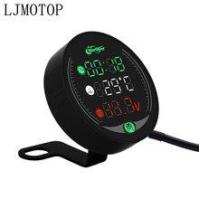 Для YAMAHA tdm 900 850 mt125 mt03 mt01 mt 125 03 01 xt660 вольтметр для мотоцикла часы температура воды цифровой дисплей