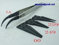 DHL/EMS 50 Aço Inoxidável + 4 conjuntos Cabeça de Plástico Antiestático Pinças Alicate para IC SMD SMT A8|null| |  -