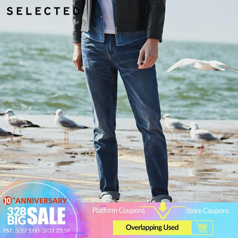 SELECTED New Men's Casual Jeans Cotton-containing Micro-elastic Tapered Clothes Denim Pants C | 418232516