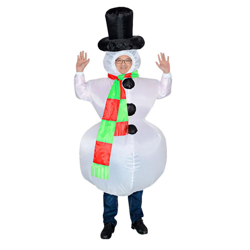 Inflatable Snowman Costume Fantasy Skirt Men And Women Party Christmas New Year