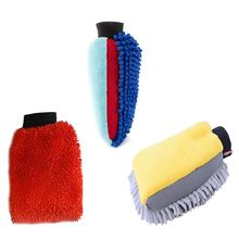 Waterproof Car Wash Microfiber Chenille Gloves Car Cleaning Double-faced Glove xsy001 double faced elastic chenille fiber car washing gloves blue