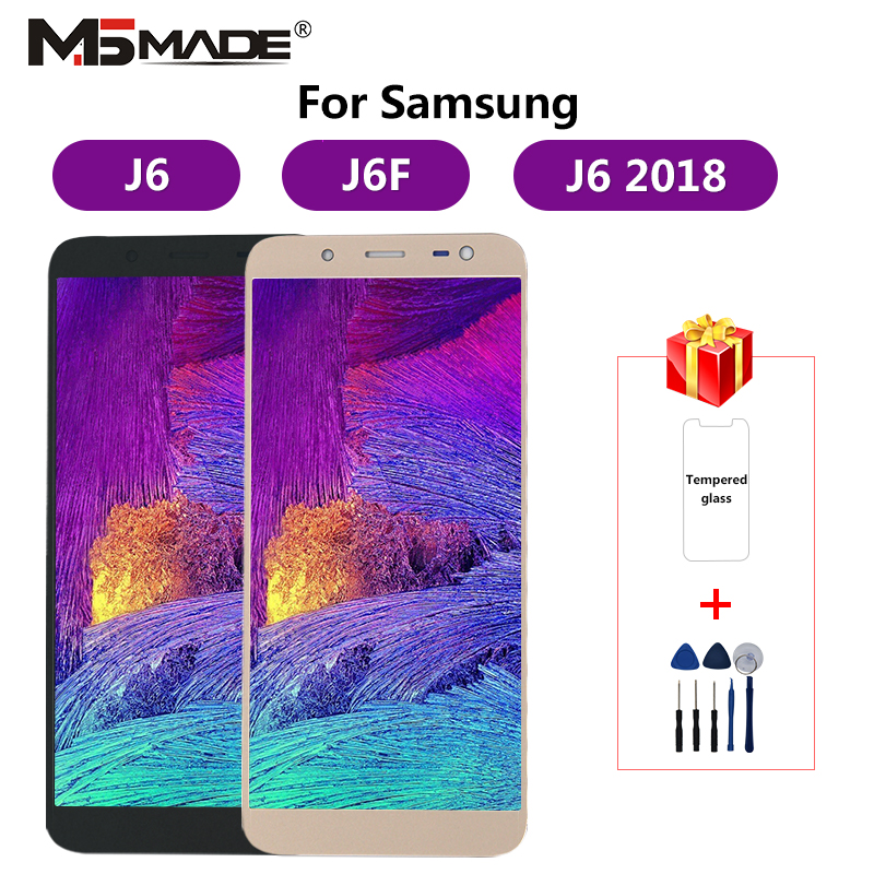 <font><b>J600</b></font> Einstellbar Für <font><b>Samsung</b></font> <font><b>Galaxy</b></font> <font><b>J6</b></font> <font><b>2018</b></font> <font><b>J600</b></font> J600F J600Y LCD Display Touch Screen Für SM-J600F J600G J600FN/ds montage Teile image
