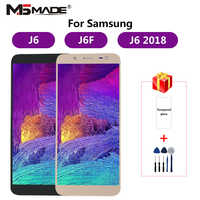 J600 Regolabile Per Samsung Galaxy J6 2018 J600 J600F J600Y Display LCD Touch Screen Per SM-J600F J600G J600FN/ds parti di montaggio