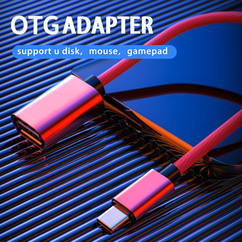 18cm Micro USB OTG Cable Type C OTG Cable Gaming OTG Adapter Cellphone Game Mouse Keyboard Connector For Samsung Xiaomi