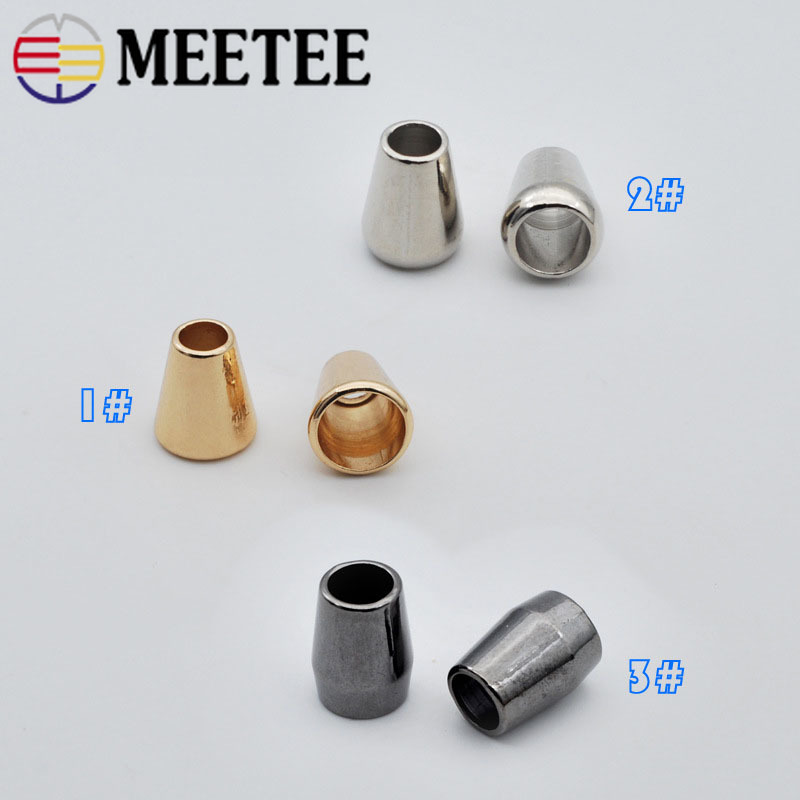 50pcs Metal Stopper Buckle Hat Rope Cord End Jacket Strap Decor Cord Lock Clip Clasp DIY Sewing Sweatpants Clothing Accessories
