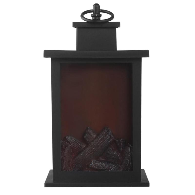 Hd77310694ef94a45bbd5bd74737427d72 - LED Flame Lantern Lamps Simulated Fireplace Flame Effect Light AA Battery Courtyard Room Decor