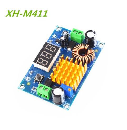 XH-M411 DC 3V-35V to DC 5V-45V Boost Converter Module Voltage Regulator Adjustable Step Up Voltmeter