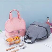 Простая однотонная Экологически чистая сумка для бенто мужчин