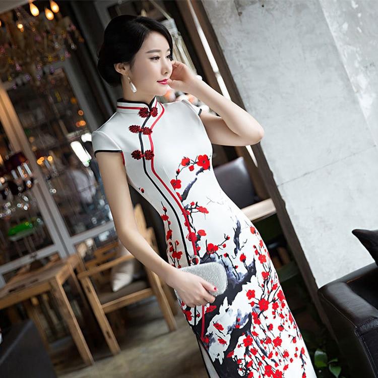 Tailor Shop Custom Made Qipao Chinese Dress  Bespoke  Mother Of The Bride Dresses  Women's Evening Banquet Cheongsam  Long Qipao