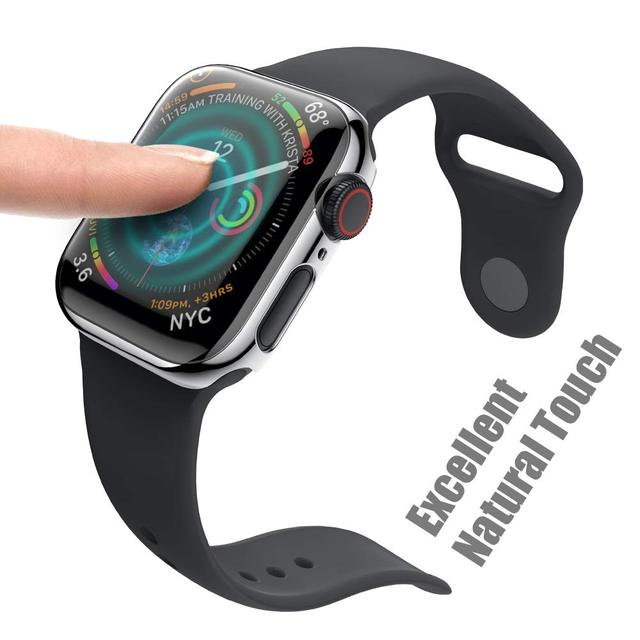 PC Case Cover for Apple Watch 4 3 band Screen Protective band 42mm 44mm 38mm