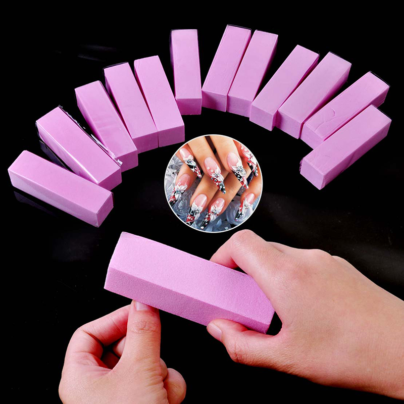 1 Pcs Nail Sponge Sanding Block Sponge Unisex Nail File Plastic Buffer Nail File Durable Undamaged Nails Nail Art Tool TSLM1