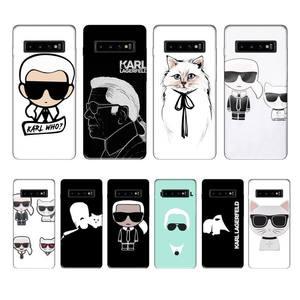 Lagerfeld Brand designer KARLs luxury brand case coque fundas for samsung galaxy S8 S9 S10e S20 PLUS J6 J600 cases cover(China)