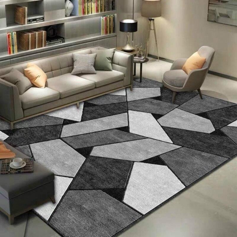 Tapete antiderrapante geométrico para sala de estar casa interior impresso decoração área tapetes quarto cabeceira bay janela sofá tapete