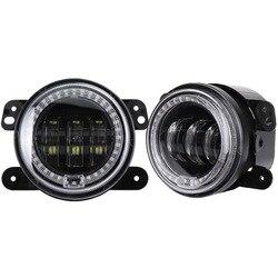 Die vectra 30 w runde gürtel blende LED nebel lampen vor 4 jeep wrangler mit tag licht nebel lampen