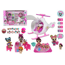 LoL Surprise Dolls Airplane Picnic Ice Cream Car Slide Bag Villa PVC Action Figure House Doll Game Toys for Girls Birthday Gifts