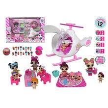 ЛОЛ Сюрприз куклы самолете пикник мороженое скольжение автомобиля сумка Вилла ПВХ фигурку Кукольный дом игрушки для девочки день рождения подарки