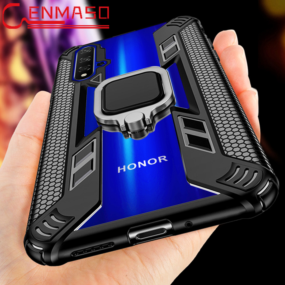 For <font><b>Honor</b></font> 20 <font><b>Case</b></font> For <font><b>Honor</b></font> <font><b>8x</b></font> 9X 8A 10 20 lite 10i 20i V20 Ring <font><b>Case</b></font> For Huawei P smart plus 2019 <font><b>Magnetic</b></font> car armor back Cover image