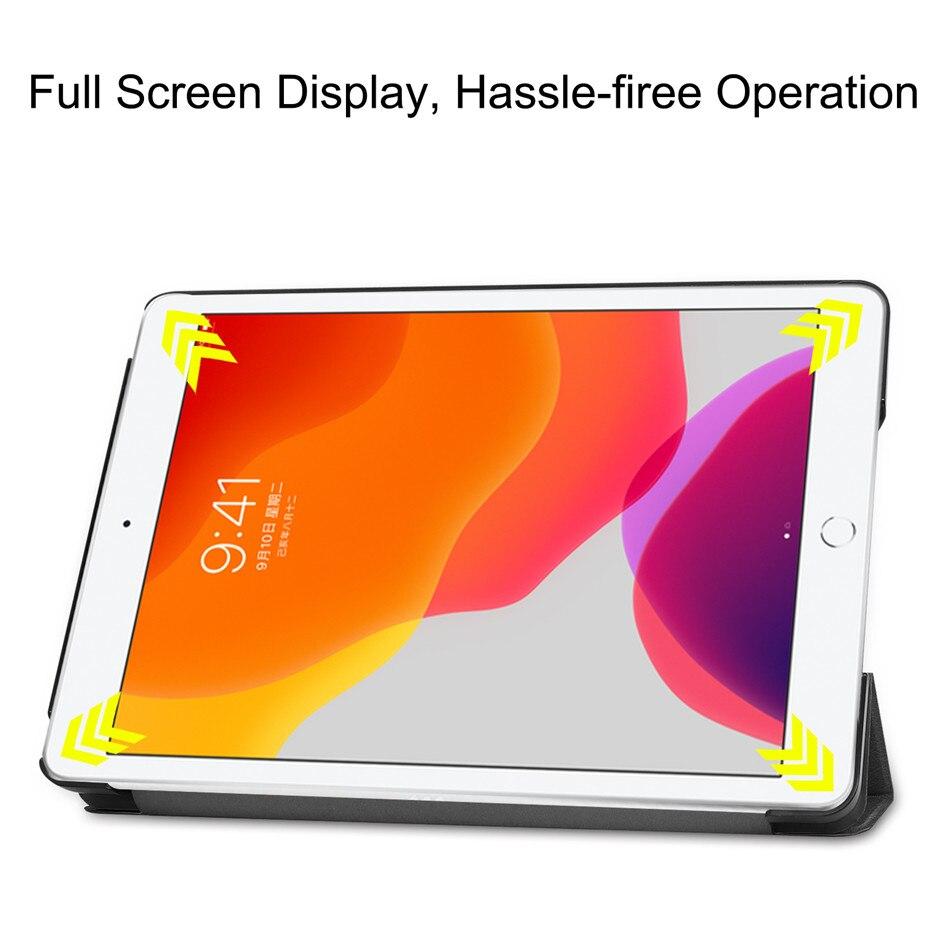 For Case A2232 Apple Funda iPad Smart Cover 10.2 for 2020 iPad 2019 10.2 A2198 A2200 8th