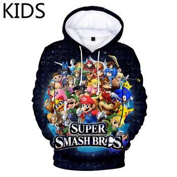 Sudadera con capucha para niños de 2 a 14 años, Super Smash Bros. Sudaderas con capucha Ultimate para hombre, gran oferta, Sudadera con capucha de Anime, estampado 3D, talla grande para adulto