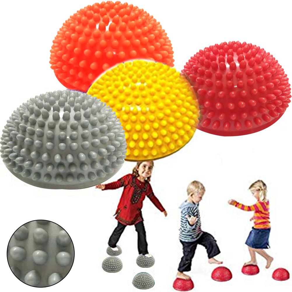 Kids Inflation Hemisphere Durian Foot Sole Muscle Stress Relief Massage Ball Toy Hedgehog Ball Massager For Training Grip