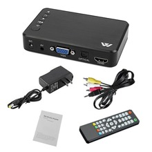 Мини портативный hdd плееры Full HD 1920x1080 HDMI VGA AV USB жесткий диск U диск SD/SDHC/MMC карты последние F10 мультимедиа плеер