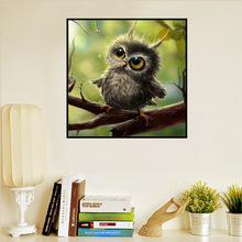 5D Diamond Painting Living Room Outbound Hot Sales-Small Animal Pattern Adorable Cat Owl Cross Stitch