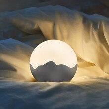 Luz da noite led toque escurecimento crianças lâmpada de cabeceira usb recarregável gabinete iluminação proteção para os olhos luz portátil para casa