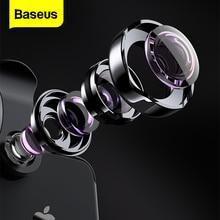 Baseus טלפון עדשה רחב זווית + עיני דג עדשה + 15X מאקרו מצלמה עבור iPhone X 8 7 6S בתוספת סמסונג S8 Huawei זום עדשת Selfie עדשה