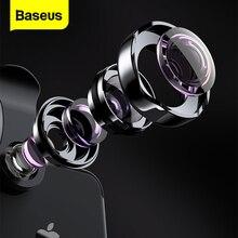 Baseus lente gran angular para teléfono, lente ojo de pez, Macro Cámara 15X para iPhone X, 8, 7, 6S Plus, Samsung S8, Huawei, lente de Zoom para Selfie