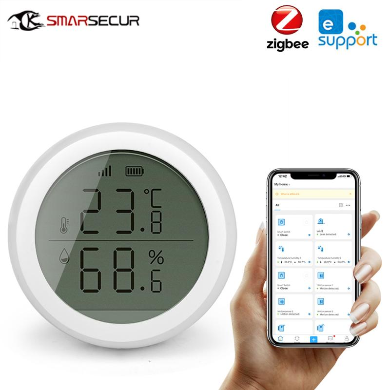 Датчик температуры и влажности EWelink Zigbee, детектор температуры и влажности для умного дома