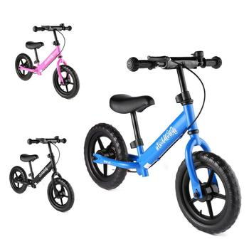 Kids Balance Bike 12'' Classic Lightweight No-Pedal Toddlers Walking Bicycle w/Height Adjustable Seat and Handle for Children
