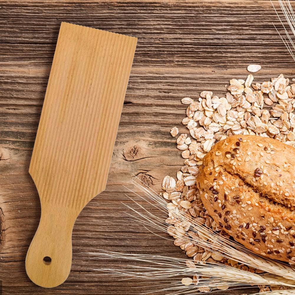 Деревянная макаронная доска для лапши, без прилипающих глубинных пазов, аутентичная паста Gnocchi для домашней макаронной доски