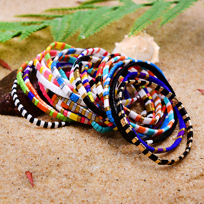 MOON GIRL Tila Beads Miyuki Bracelets for Women Rainbow Handmade Stretchy Charm Wrap Friendship Pulseras Mujer Dropshipping