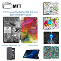 MTT планшет для надписей чехол для Huawei Mediapad M3 8 4 дюйма BTV-W09 BTV-DL09 Ультратонкий чехол из искусственной кожи с откидной крышкой