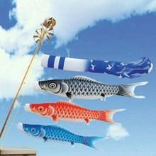 Japon Windsock sazan bayrak Koinobori balık rüzgar flama bahçe ev asılı süs Devoration el sanatları