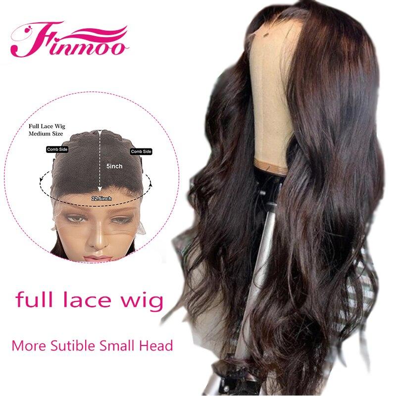 Pleine dentelle perruques de cheveux humains indien vague de corps Remy perruque de cheveux avec des cheveux de bébé pré plumés naturel Headline blanchis noeuds pour les femmes