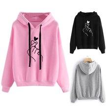 Женская толстовка с длинными рукавами и капюшоном для девочек, розовый топ с принтом сердца, толстовки для скейтбординга, женские топы для фитнес-тренировки, спортивная одежда