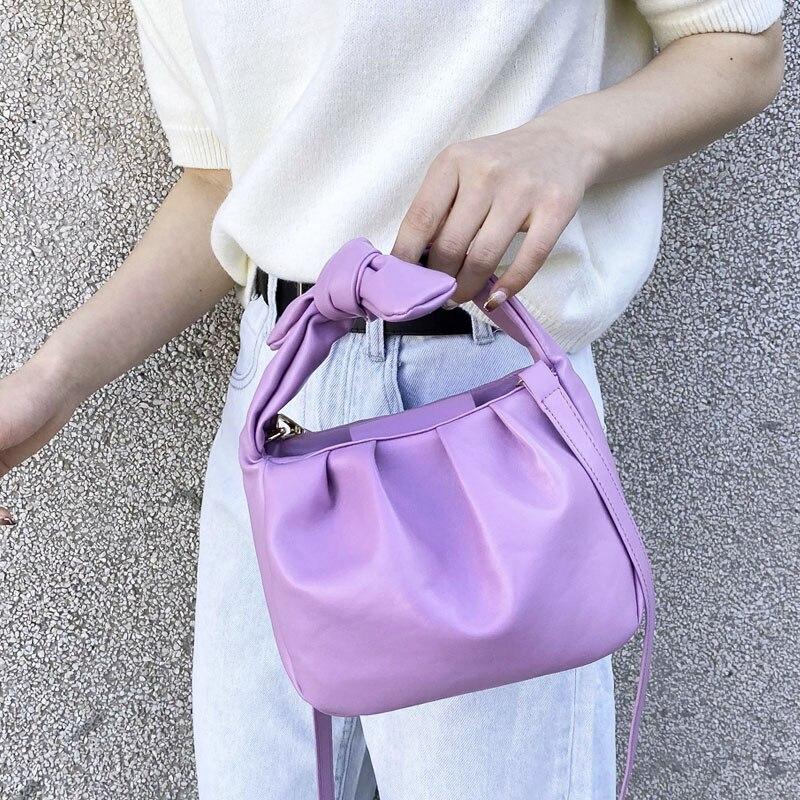 Сумки шопперы для женщин 2020 винтажные сумки одноцветные летние сумки через плечо дамские сумки через плечо Дамский клатч из мягкой кожи|Сумки с ручками|   | АлиЭкспресс