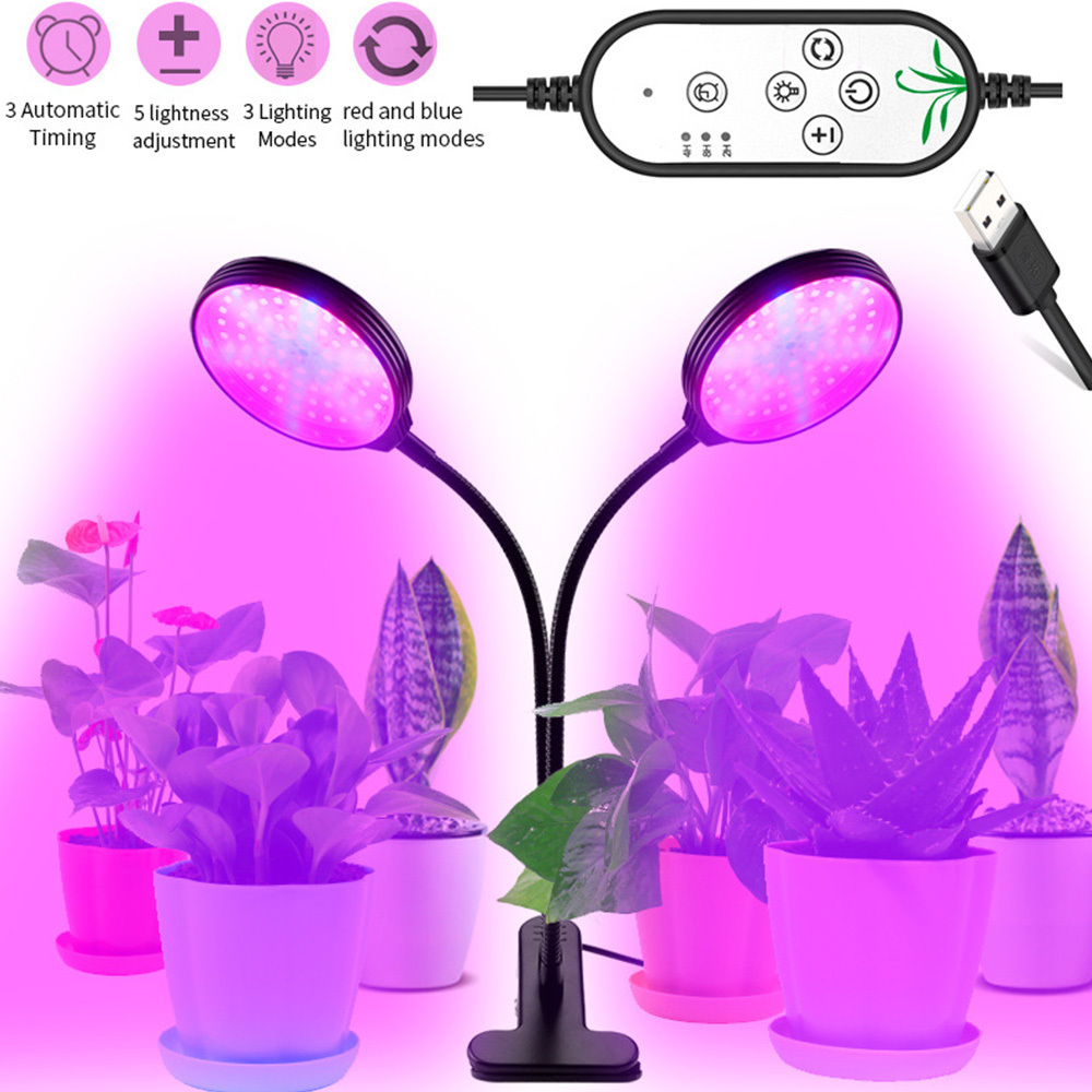 30W USB Dimming LED Grow Light LED Plant Lamps Full Spectrum Phyto Lamp Timer For indoor Vegetable Flower Seedling