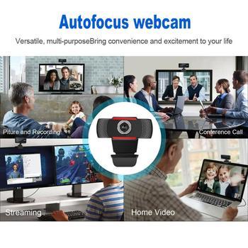 USB Computer Webcam Full HD 1080P Webcam Camera Digital Web Cam With Micphone For Laptop Desktop PC Tablet Rotatable Camera 4