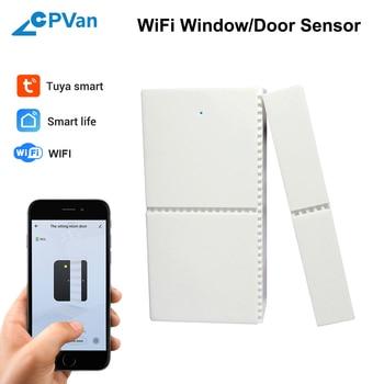 CPVan WiFi Window Door Sensor Smart Life APP Door Sensor Android IOS Wireless Remote Control Door Alarm Sensor for Home Security