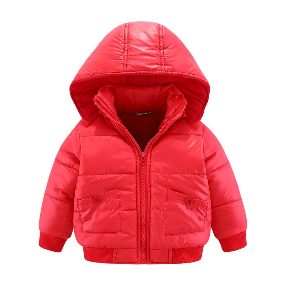 Mudkingdom Baby Boys Winter Jacket Solid Hooded Detachable Windproof Kids Warm Cotton Padded Coat 2