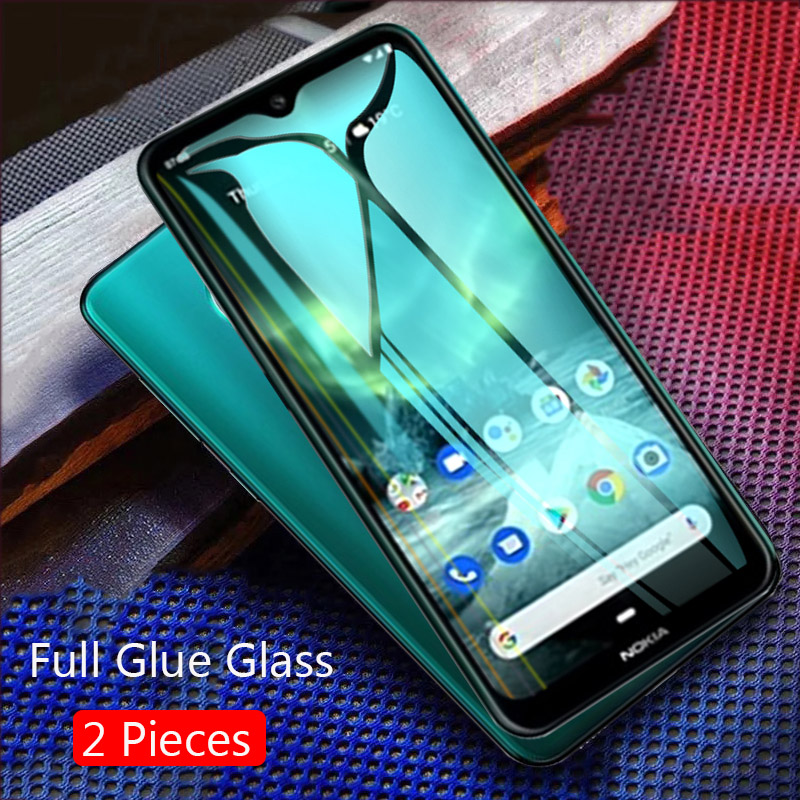 Lainergie For <font><b>Nokia</b></font> <font><b>7.2</b></font> Tempered Glass Full Glue 9H Shock-Proof <font><b>Screen</b></font> <font><b>Protector</b></font> For <font><b>Nokia</b></font> 2.3 Nokia7,2 Glass image