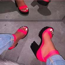 Неоновые розовые женские уличные сандалии карамельных цветов