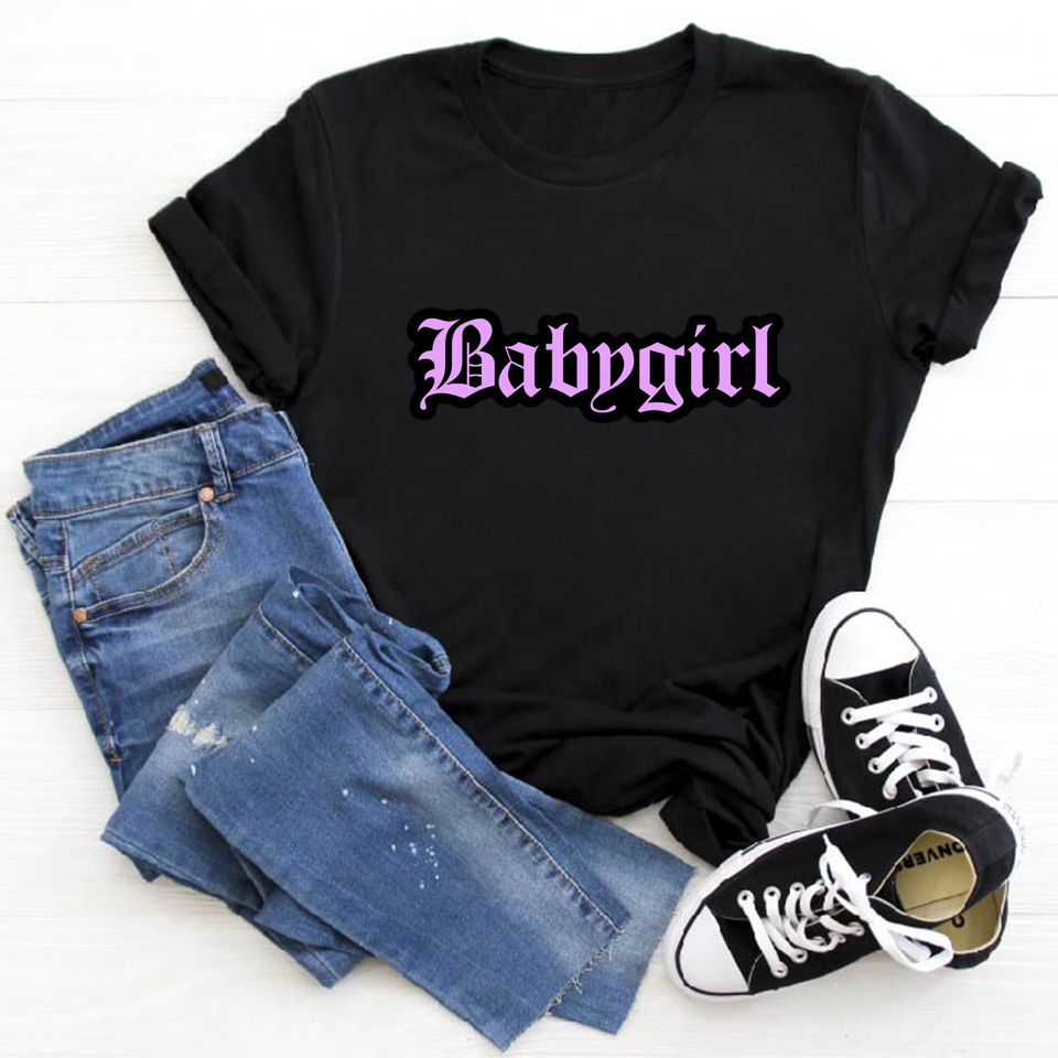 New Women Clothes 2020 Babygirls Funny T Shirts Camiseta Mujer Vogue Tshirt Tops Summer Tees Plus Size  Ulzzang T-shirt Femme