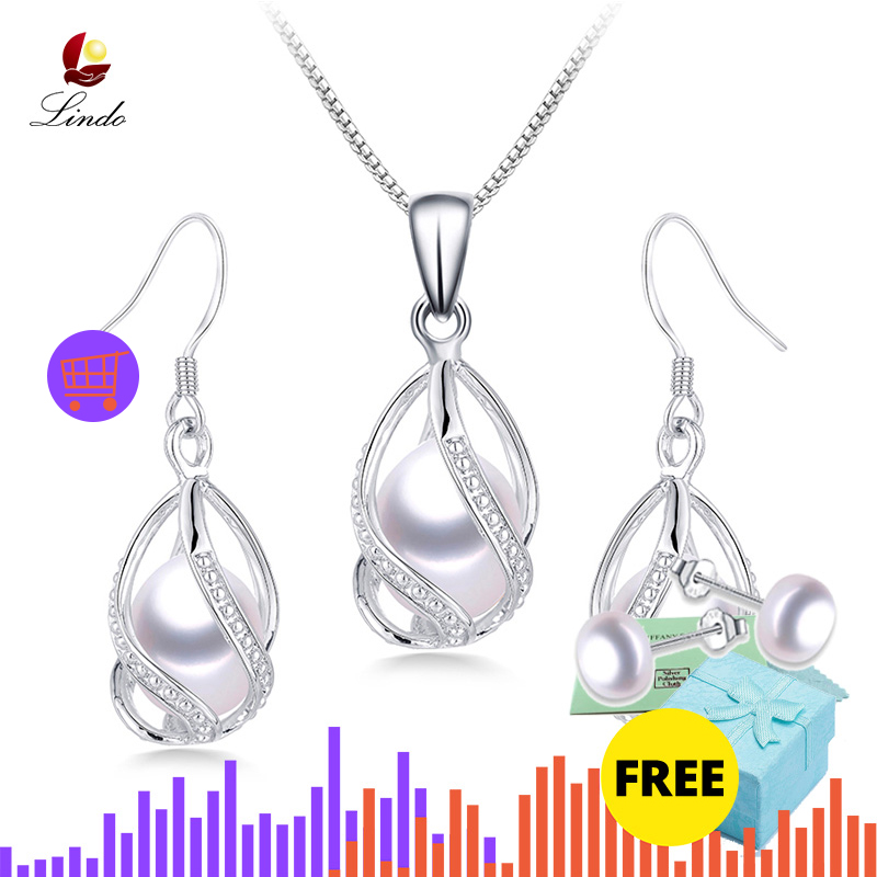 100 Natural Freshwater Pearl Jewelry Sets For Women Fashion 925 Sterling Silver Earrings Pendant Wedding Jewelry Innrech Market.com