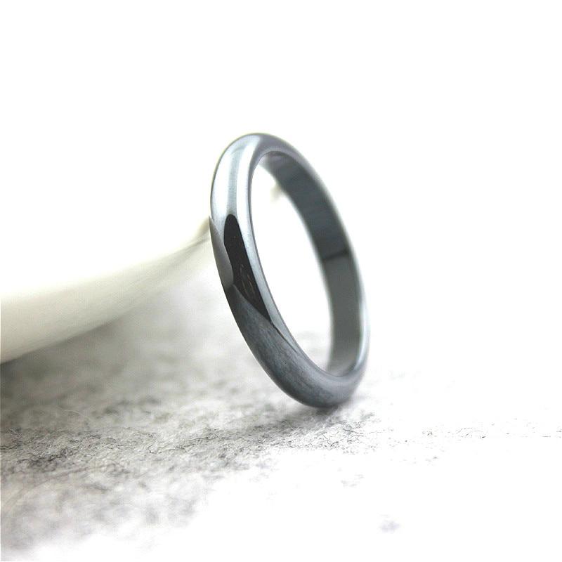 Бесплатная доставка, модное праздничное ювелирное изделие, 5А качество, 4 мм, широкое кольцо с гематитом, Радужное кольцо (1 штука)
