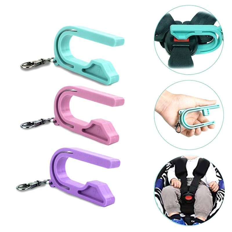 Car Seat Unbuckler Car Seat Key Easy Buckle Release Tool Car Seat Adapters Easy Buckle Release Aid for Children and Caregivers Pink